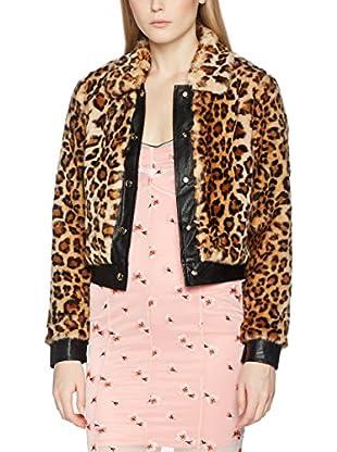 Guess Jacke Leopard Fake Fur Bomber