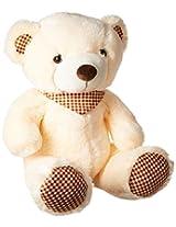 Dimpy Stuff Bear with Scarf, Cream (50cm)