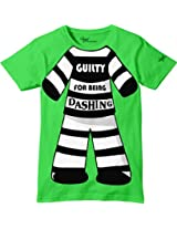 Glow in Dark Kids T-Shirt, Prisoner Found Guilty for Being Cute Design by Grasshopr