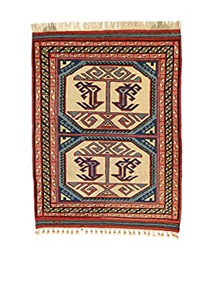 L'EDEN DEL TAPPETO Alfombra Konya Antik Rojo/Multicolor 116 x 140 cm