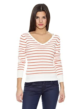 Springfield Jersey Bs-V Neck Stripes (Blanco / Rojo)