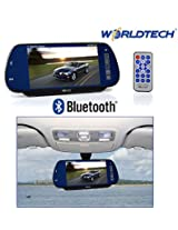 "Worldtech 7"" LED Monitor Screen for Rear View Mirror with Bluetooth USB SD Card Support with Remote Control"