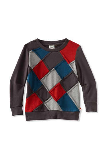 Fore!! Axel and Hudson Boy's Long Sleeve Crew Neck Sweater (Patchwork)