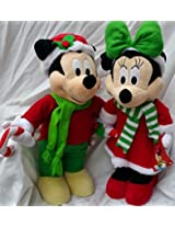 Mickey And Minnie Mouse Holiday Greeters