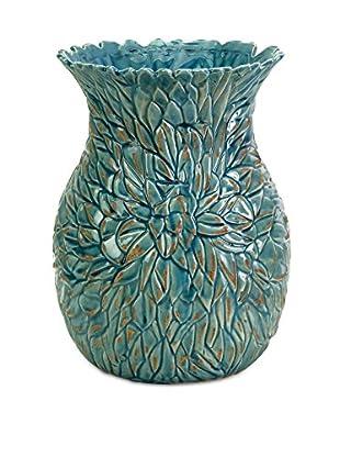 Blue Lotus Leaves Vase, Small