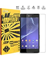 Sony Xperia Ultra T2 Screen Protector, E LV Xperia Ultra T2 ANTI-SHATTER Tempered Glass Screen Protector Scratch Free Ultra Clear HD Screen Guard for Sony Xperia Ultra T2 (2014) Only
