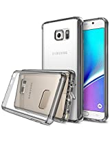 Galaxy Note 5 Case - Ringke FUSION ***All New Dust Free Cap & Drop Protection*** [FREE Screen Protector][SMOKE BLACK] Premium Crystal Clear Back Shock Absorption Bumper Hard Case for Samsung Galaxy Note 5
