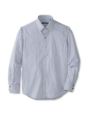 Zachary Prell Men's Rodney Checked Long Sleeve Shirt (Black)