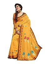 Triveni Blended Cotton Saree (TSMRCC139_Yellow)