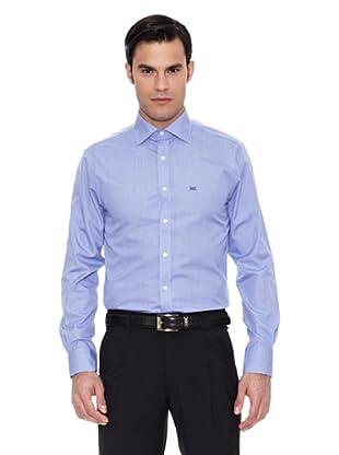 Pedro del Hierro Camisa Non Iron Falso Liso (Azul Marino)