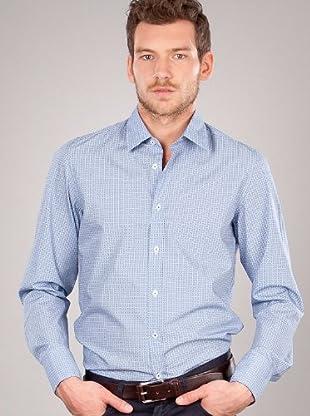 Hugo Boss Camisa Flores (Azul)