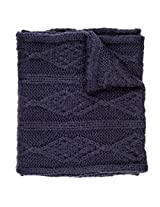 Noble Mount Mens Cable Knit Infinity Scarf - Navy