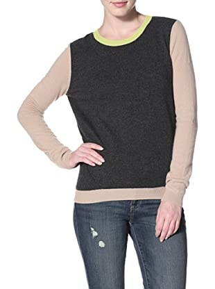 Shae Women's Slit Back Sweater (Charcoal/Twine)