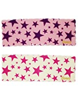 iOna Beauty Essentials Woman Tic Tac STARS Type Beauty Hair Pins White n Pink 2