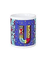 Chumbak Alphabet U Coffee Mug, 300ml