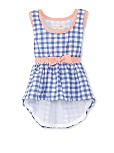 Upper School Girl's Gingham Dress with Bow (Midnight Blue)