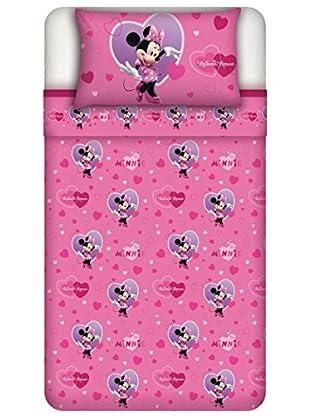 Disney Betttuch und Kissenbezug Minnie Heart
