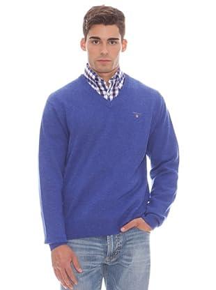 Gant Jersey Liso Pico (Azul)
