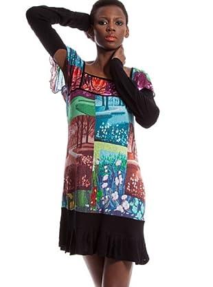 Custo Vestido Rina crosswood (negro)