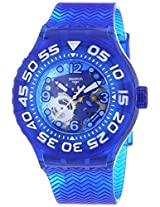 Swatch SUUS100 La Nave Va See-through Dial Blue Plastic Strap Unisex Watch