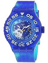 Swatch SUUS100 La Nave Va See-through Dial Blue Plastic Strap Unisex Watch