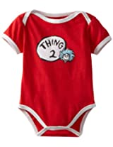 Bumkins Unisex-baby Newborn Dr. Seuss Thing 2 Short Sleeve Bodysuit