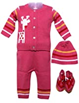 Amity Anchor Kids Warm Wear Set (AA14-15215_0-3 Months_Pink)