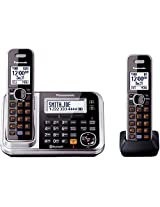 Panasonic KX-TG7872S Link2Cell Bluetooth Enabled Phone with Answering Machine & 2 Cordless Handsets