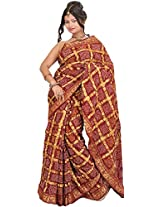 Exotic India Art Silk Saree (Sdd51 _Red)