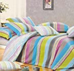 MultiColor Eleanor 3pc Double Bedsheet Set