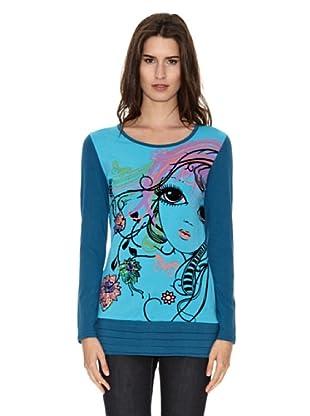 Peace & Love Camiseta Suzhou (Azul)