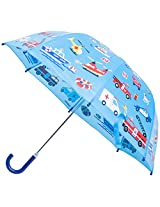 Babalu Emergency Vehicles Umbrella, Sky Blue