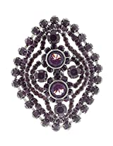 Syonaa brooch in purple colour stones(brch228)