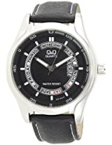 Q&Q Analog Black Dial Men's Watch - A186J302Y