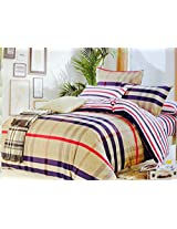 CnS BURBERRY CHECK BEDSHEET, KING SIZE WITH PILLOW COVERS, 100% COTTON