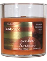 Candle-lite Landscape Natural Wooden Wick Candle - Amber Horizon