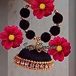 Black silk thread hoop jhumka by Sayee Creation