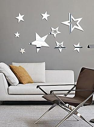 SuperStudio Wandtatoo-Spiegel Stars
