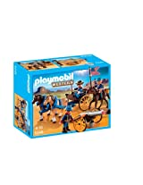 Playmobil Horse-Drawn Carriage with Cavalry Rider, Multi Color