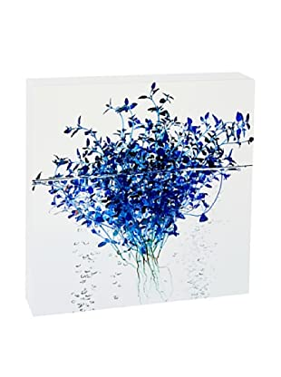 Art Block Blue Thyme - Fine Art Photography On Lacquered Wood Blocks