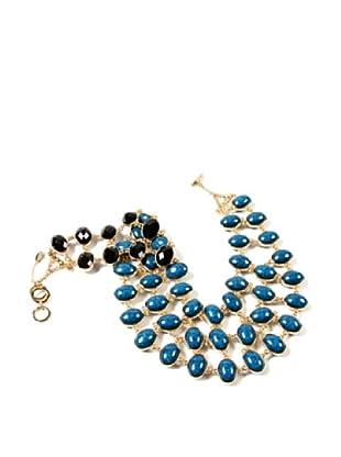Amrita Singh Collar Reversible Cleopatra Bib Azul / Negro