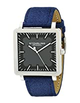 "Stuhrling Original Men's 909.331OC54 ""Classic Ascot Saratoga"" Ultra-Slim Stainless Steel and Blue Canvas Watch"