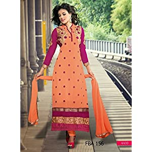Fabboom New Orange and Pink Straight cut suit