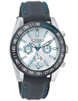 Titan Octane Multi-Function Chronograph Silver Dial Men's Watch - 9491KP03J