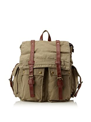 J. Campbell Los Angeles Men's Washed Canvas Backpack, Green