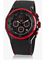 Es104171002 Black/Red Chronograph Watch Esprit