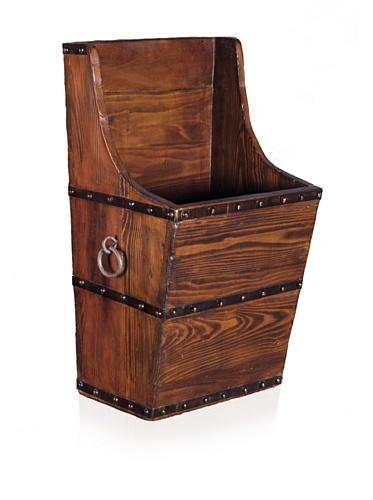 Antique Revival Wooden Saddle Bag (Natural Elm)