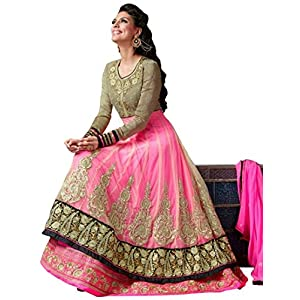 Stylelok Pink pure Georgette NET Semi Stitched Suit SL 100008