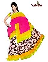 Bhagalpuri Silk Printed Pink Bollywood Saree - VMS80020