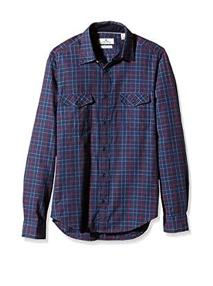 Cortefiel Camisa Hombre FRANELA CUADROS 2 BOLS T